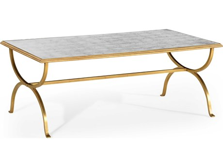 Jonathan Charles Luxe Gilded Iron 52 x 30 Rectangular Coffee Table