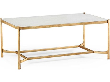 Jonathan Charles Luxe Gilded Iron 48 x 28 Rectangular Coffee Table