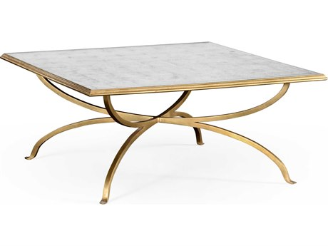 Jonathan Charles Luxe Gilded Iron 39.5 Square Coffee Table