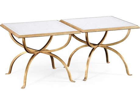Jonathan Charles Luxe Gilded Iron 24 Square Coffee Table