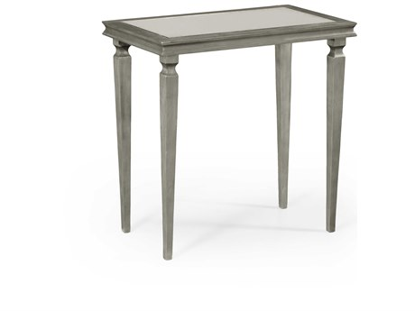 Jonathan Charles Luxe Gilded Antique Silver-Leaf 30 x 18 Rectangular Console Table JC494065S