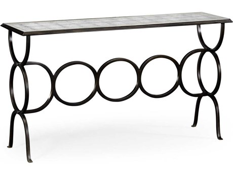 Jonathan Charles Luxe Antique Bronze Finish On Metal 60 x 16 Rectangular Console Table JC494156B