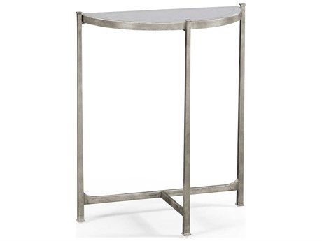 Jonathan Charles Luxe Gilded Antique Silver-Leaf 28 x 13 Rectangular Console Table JC494180S