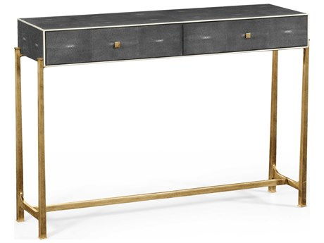 Jonathan Charles Luxe Anthracite Shagreen 48 x 13.75 Rectangular Console Table