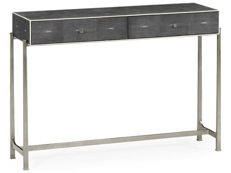 Jonathan Charles Luxe Anthracite Shagreen 48 x 13.75 Rectangular Console Table JC494325SSGA