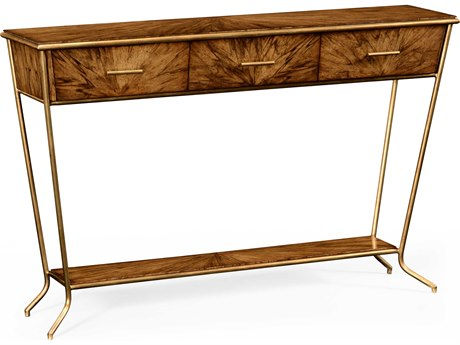 Jonathan Charles Luxe Light Argentinean Walnut 60 x 14 Rectangular Console Table