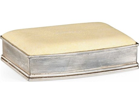 Jonathan Charles Luxe Cream Shagreen Decorate Accent