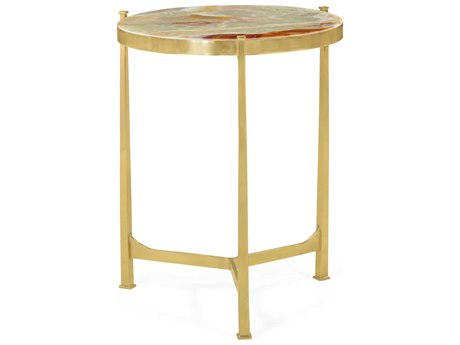 Jonathan Charles Luxe 20'' Wide Round End Table JC500042BRHM003