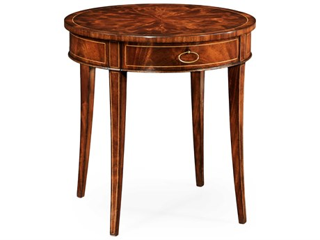 Jonathan Charles Luxe Light Antique Mahogany 61 Round End Table