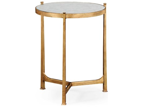 Jonathan Charles Luxe Gilded Iron 20 Round End Table
