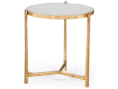 Jonathan Charles Luxe Gilded Iron 24.75 Round End Table