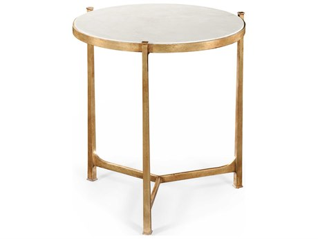 Jonathan Charles Luxe Gilded Iron 24.75 Round End Table JC494140GSG01