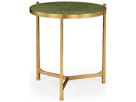 Jonathan Charles Luxe Gilded Iron 24.75 Round End Table JC494140GSGG