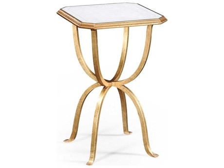 Jonathan Charles Luxe Gilded Iron 16 Octagon End Table JC494196G