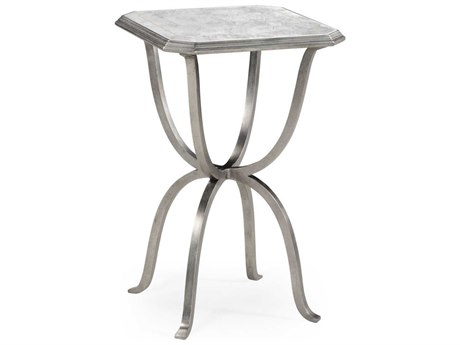 Jonathan Charles Luxe Gilded Antique Silver-Leaf 16 Octagon End Table JC494196S