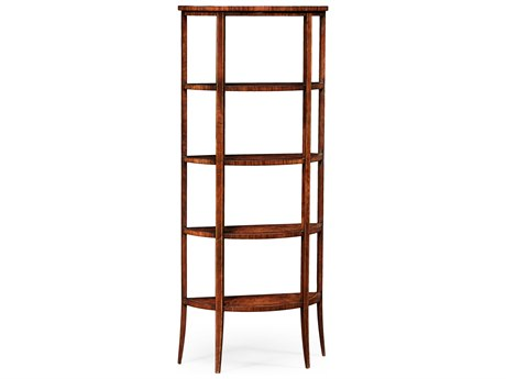 Jonathan Charles Luxe Light Antique Mahogany Etagere Rack