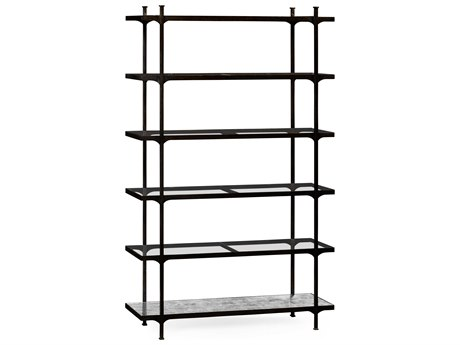 Jonathan Charles Luxe Antique Bronze Finish On Metal Etagere Rack JC494923B