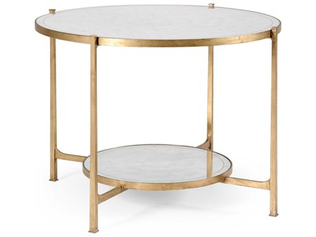 Jonathan Charles Luxe Gilded Iron 42.5 Round Foyer Table JC494104G