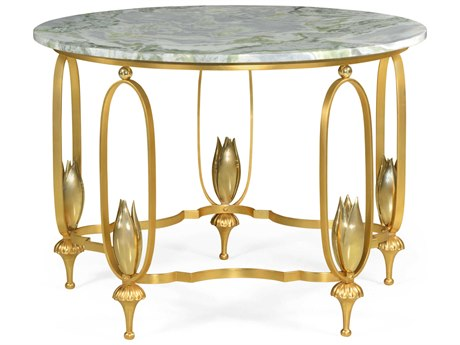 Jonathan Charles Luxe 42'' Wide Round Foyer Table