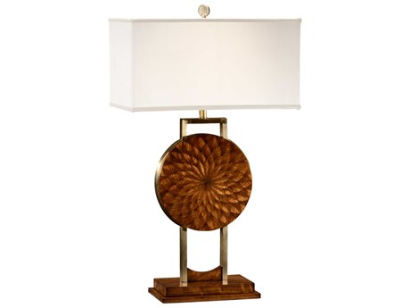 Jonathan Charles Luxe Medium Zebrano Table Lamp JC494988ZEB