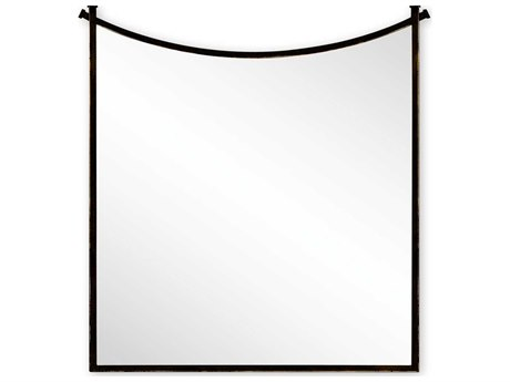 Jonathan Charles Luxe 42 x 42 Antique Bronze Finish On Metal Wall Mirror