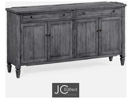Jonathan Charles JC Edited - Casually Country Antique Dark Grey On Veneer Sideboard JC491025ADG