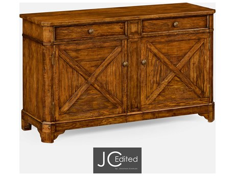 Jonathan Charles JC Edited - Casually Country Walnut Country Farmhouse Sideboard JC491128CFW