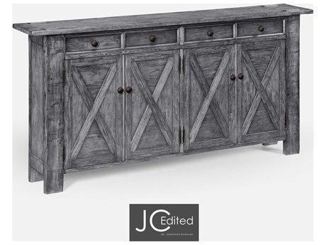 Jonathan Charles JC Edited - Casually Country Antique Dark Grey Sideboard JC491124ADG