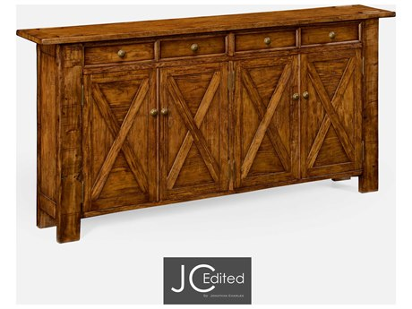 Jonathan Charles JC Edited - Casually Country Walnut Country Farmhouse Sideboard JC491124CFW