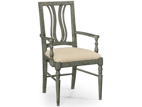 Jonathan Charles JC Edited - Casually Country Antique Dark Grey Accent Arm Chair