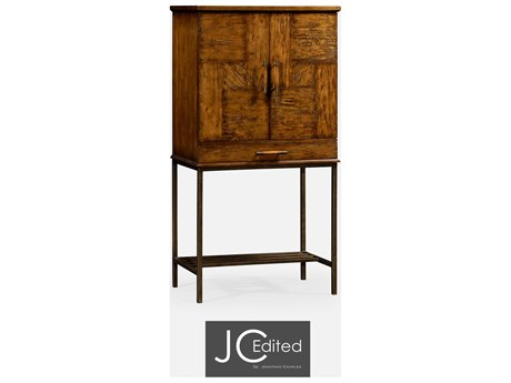 Jonathan Charles JC Edited - Casually Country Walnut Country Farmhouse Cabinet Bar JC491003CFW