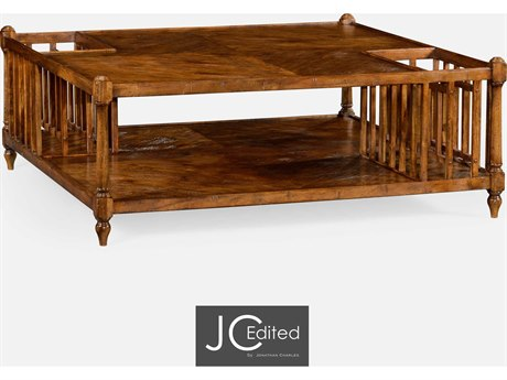 Jonathan Charles JC Edited - Casually Country Walnut Country Farmhouse Coffee Table