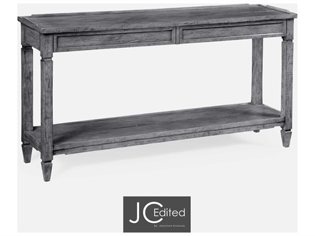 Jonathan Charles JC Edited - Casually Country Antique Dark Grey On Veneer Console Table JC491024ADG