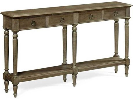 Jonathan Charles JC Edited - Casually Country Dark Grey Chestnut Large Narrow Console Table