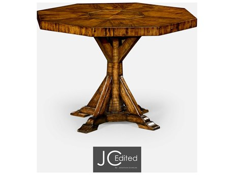 Jonathan Charles JC Edited - Casually Country Walnut Country Farmhouse Casual Dining Table JC49108242DCFW