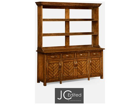 Jonathan Charles JC Edited - Casually Country Walnut Country Farmhouse Double Dresser JC491066CFW