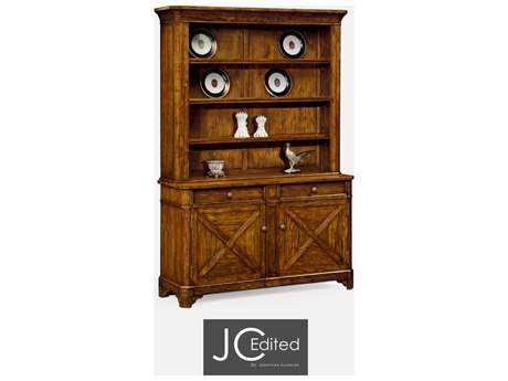Jonathan Charles JC Edited - Casually Country Walnut Country Farmhouse Double Dresser JC491070CFW