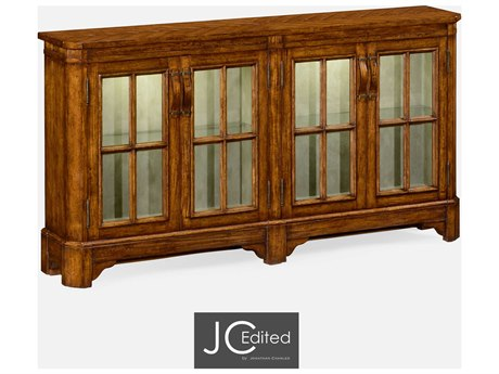 Jonathan Charles JC Edited - Casually Country Walnut Country Farmhouse Double Dresser JC491095CFW