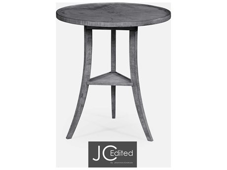 Jonathan Charles JC Edited - Casually Country Antique Dark Grey End Table JC491022ADG