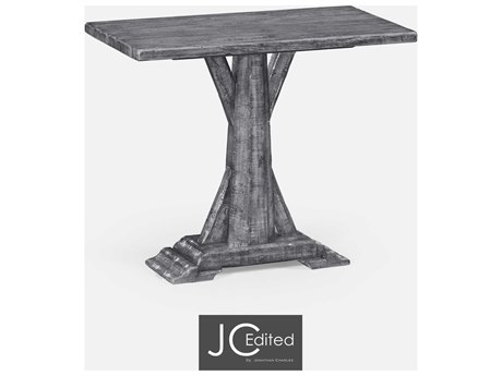 Jonathan Charles JC Edited - Casually Country Antique Dark Grey End Table