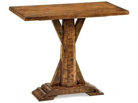 Jonathan Charles JC Edited - Casually Country Walnut Country Farmhouse Pedestal Table