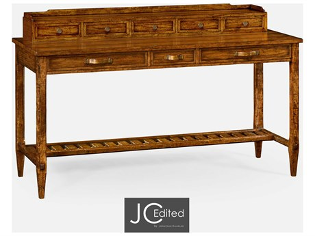 Jonathan Charles JC Edited - Casually Country Walnut Country Farmhouse Secretary Desk