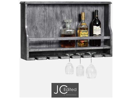 Jonathan Charles JC Edited - Casually Country Antique Dark Grey Wine Rack JC491038ADG