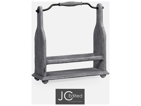 Jonathan Charles JC Edited - Casually Country Antique Dark Grey Wine Rack JC491039ADG