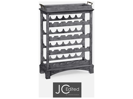 Jonathan Charles JC Edited - Casually Country Antique Dark Grey Wine Rack JC491098ADG