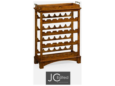 Jonathan Charles JC Edited - Casually Country Walnut Country Farmhouse Wine Rack JC491098CFW