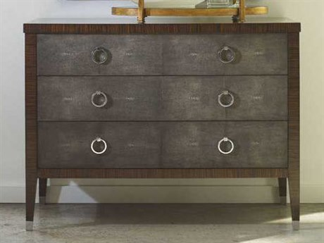 Jonathan Charles Metropolitan collection Shagreen Anthracite Chest of Drawers