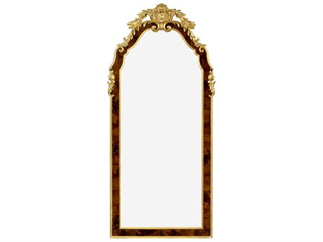 Jonathan Charles Monte Carlo collection Antique Mahogany Brown High Lustre Floor Mirror