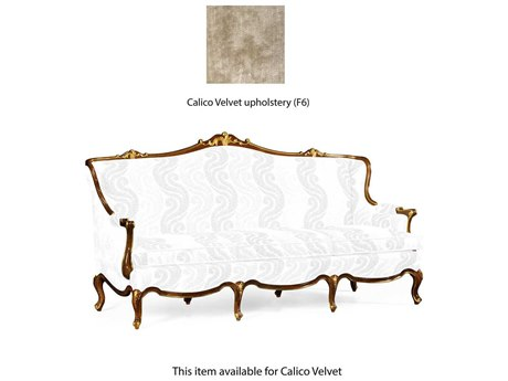 Jonathan Charles Monte Carlo Antique Mahogany Brown - High Lustre Calico Velvet Upholstered Sofa Couch with Gilded Carving JC495599BMAF005