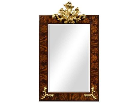 Jonathan Charles Monte Carlo collection Antique Mahogany Brown High Lustre Wall Mirror